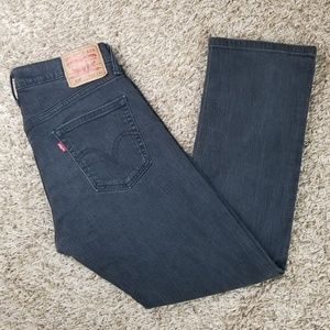 Levi's| 514 slim straight Black jeans 33×30